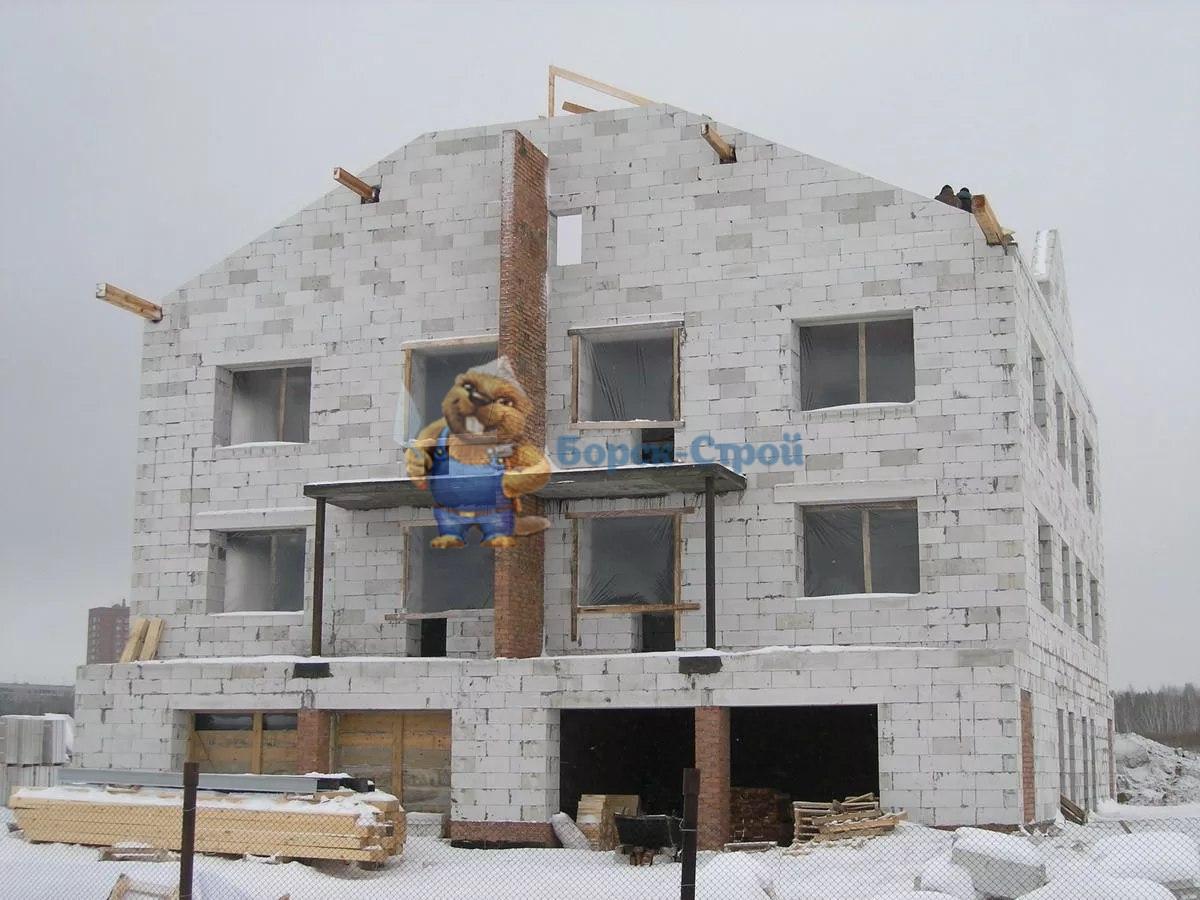стройка газбетонный дом