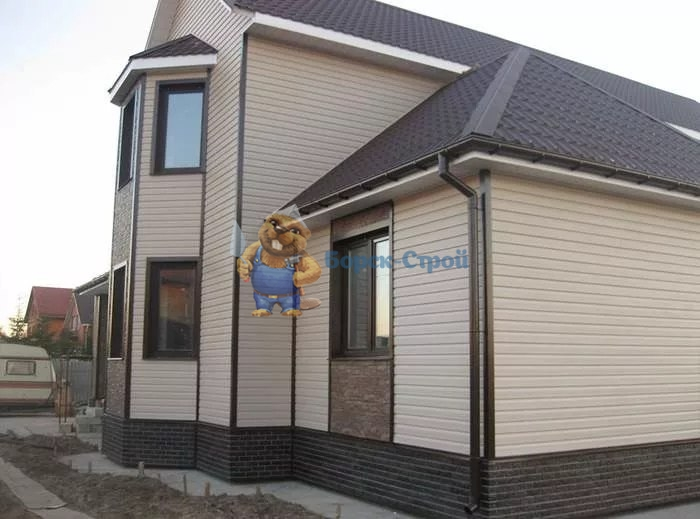отделка фасада виниловым сайдингом
